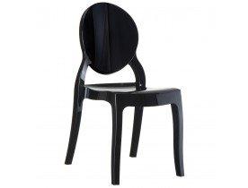 Chaise design ELIZA noire en matiere plastique - Alterego