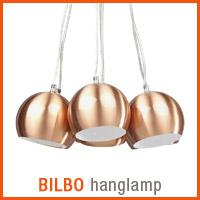 Koperkleurige BILBO hanglamp - Alterego nieuwigheden