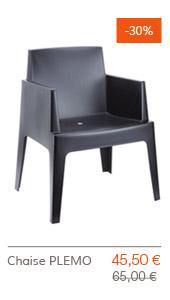 SUPER SOLDES Altergo Design - Chaise PLEMO