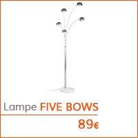 Coin déco - Lampadaire FIVE BOWS