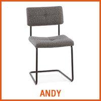 Chaise ANDY grise - Nouveaute Alterego