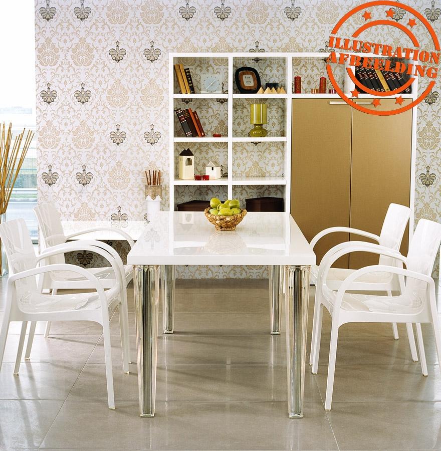 chaise moderne ying en mati re plastique blanche chaise design. Black Bedroom Furniture Sets. Home Design Ideas