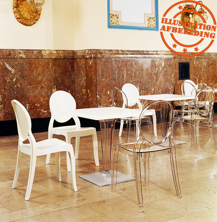 chaise m daillon eliza blanche en mati re plastique chaise design. Black Bedroom Furniture Sets. Home Design Ideas