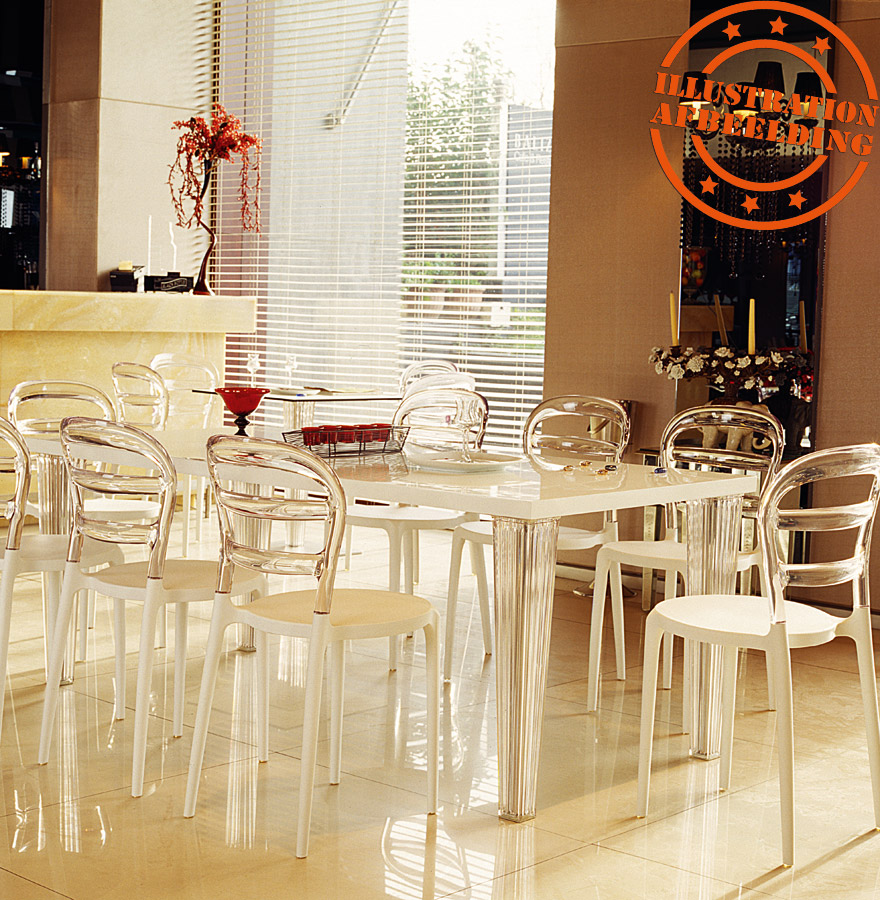 chaise design baro blanche transparente en mati re plastique. Black Bedroom Furniture Sets. Home Design Ideas