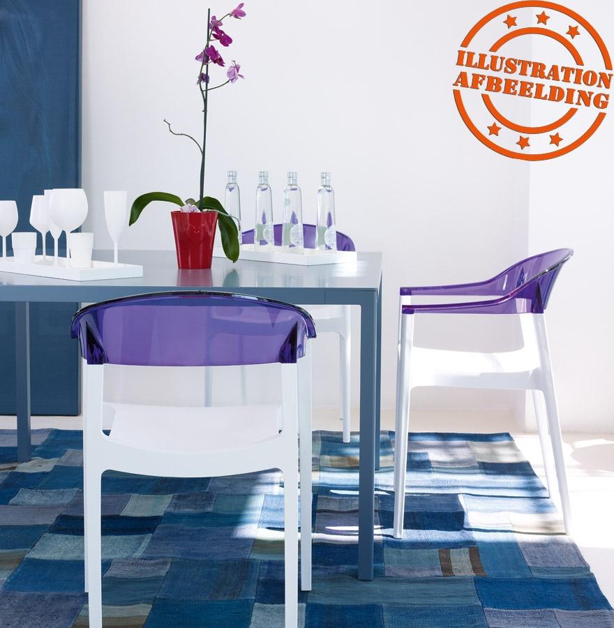 chaise design ema blanche et transparente chaise moderne. Black Bedroom Furniture Sets. Home Design Ideas