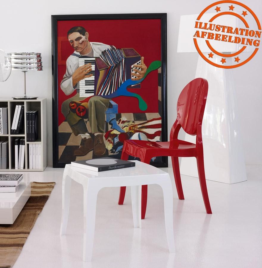 rode designstoel eliza uit kunststof. Black Bedroom Furniture Sets. Home Design Ideas