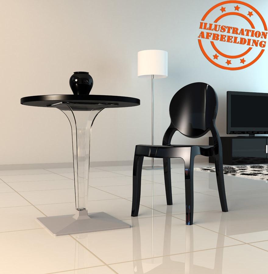 chaise m daillon eliza noire en mati re plastique chaise design. Black Bedroom Furniture Sets. Home Design Ideas