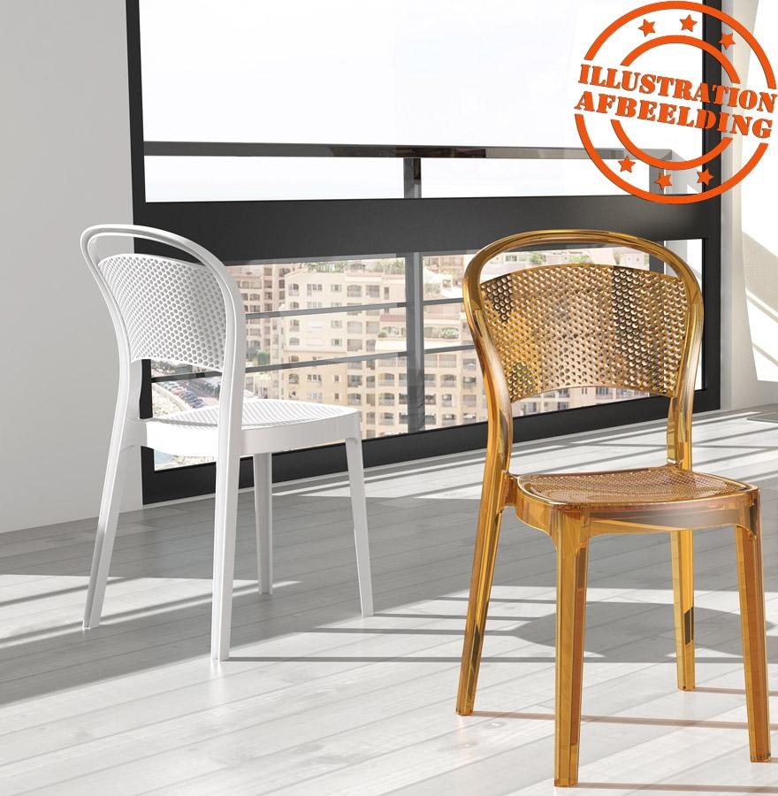 chaise design storm chaise design en mati re plastique blanche. Black Bedroom Furniture Sets. Home Design Ideas
