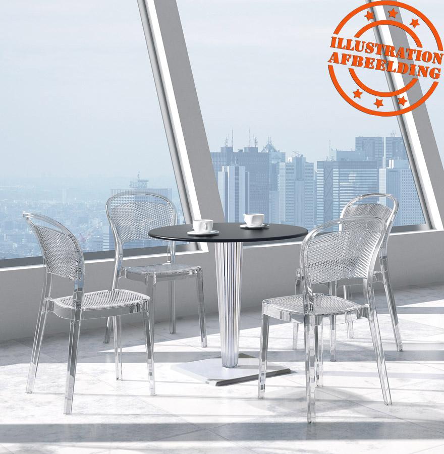 Designstoel storm designstoel uit witte kunststof for Witte kunstof eetkamerstoelen