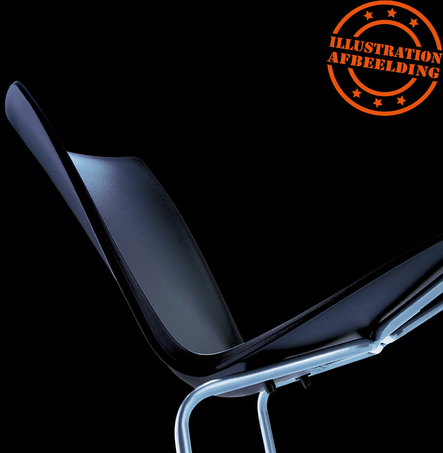 design stoel plez rode keukenstoel uit kunststof. Black Bedroom Furniture Sets. Home Design Ideas