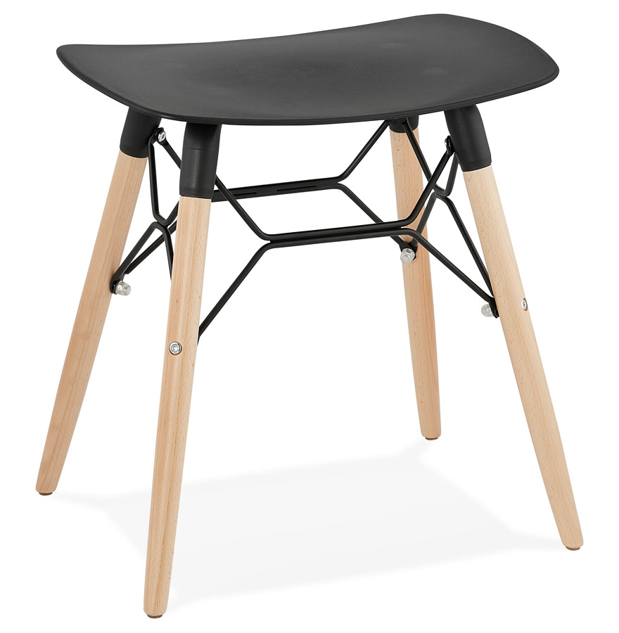 tabouret bas aladin noir style scandinave tabouret design. Black Bedroom Furniture Sets. Home Design Ideas