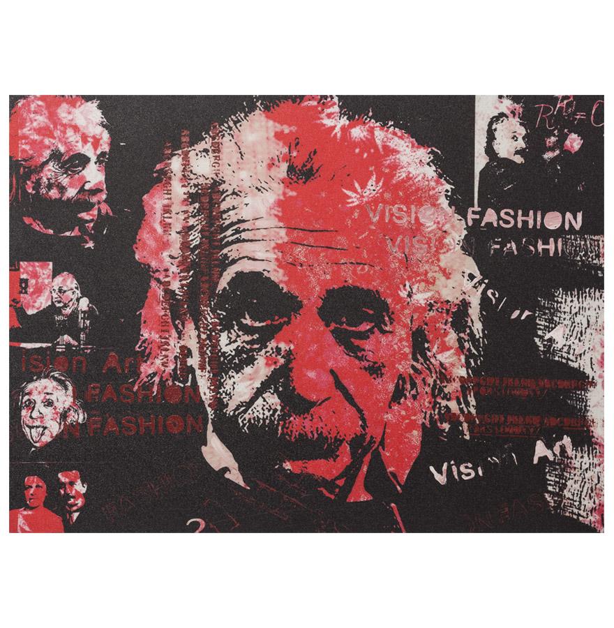 Tableau design ´ALBERT´ Einstein toile imprimée 120x90cm