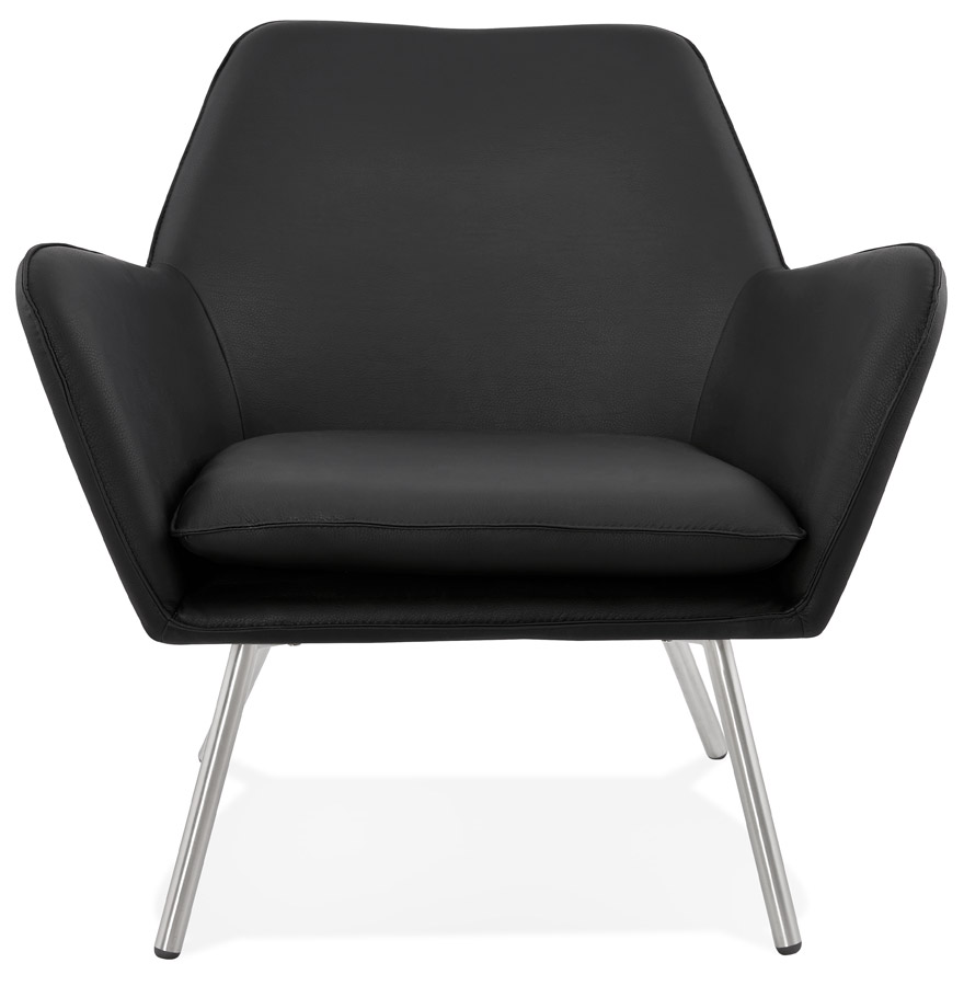 amerika black h2 02 - Fauteuil lounge design ´AMERIKA´ en matière synthétique noire