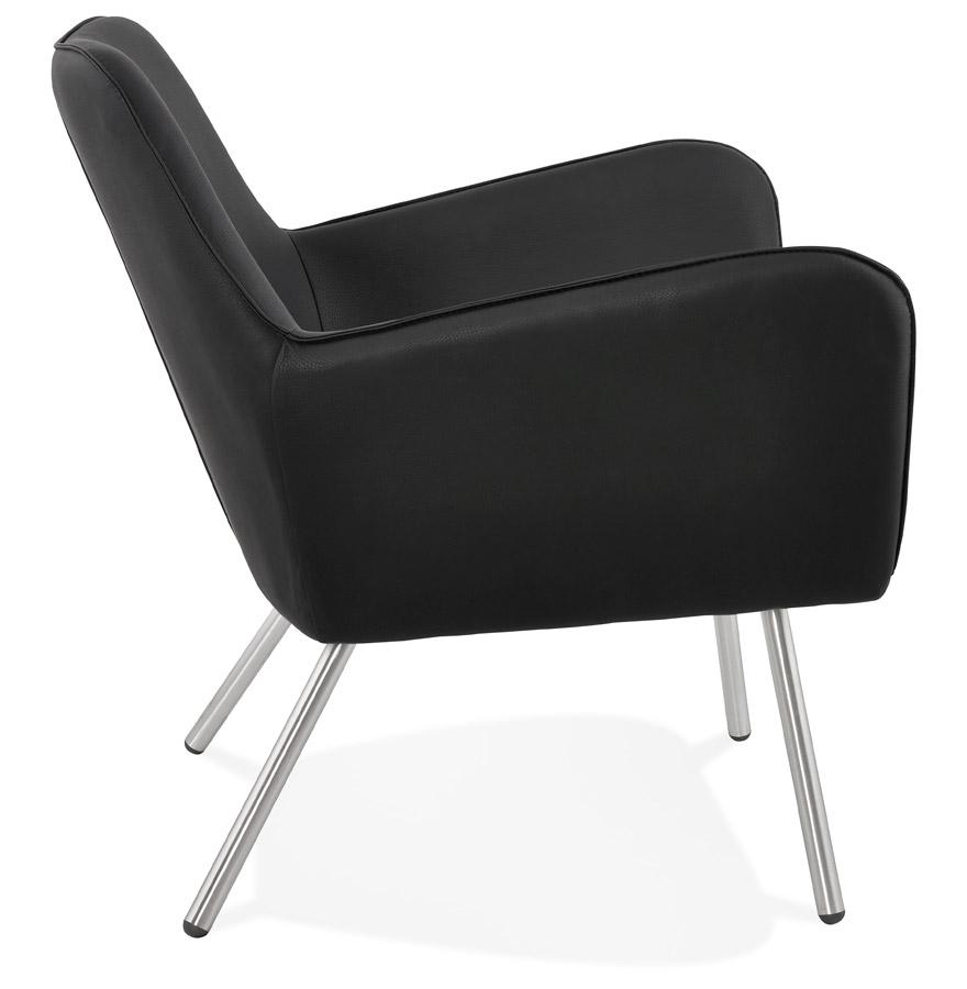 amerika black h2 03 - Fauteuil lounge design ´AMERIKA´ en matière synthétique noire