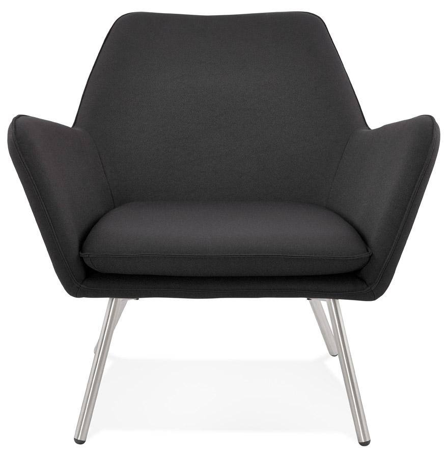 astana dark grey h2 02 - Fauteuil lounge design ´ASTANA´ en tissu gris foncé