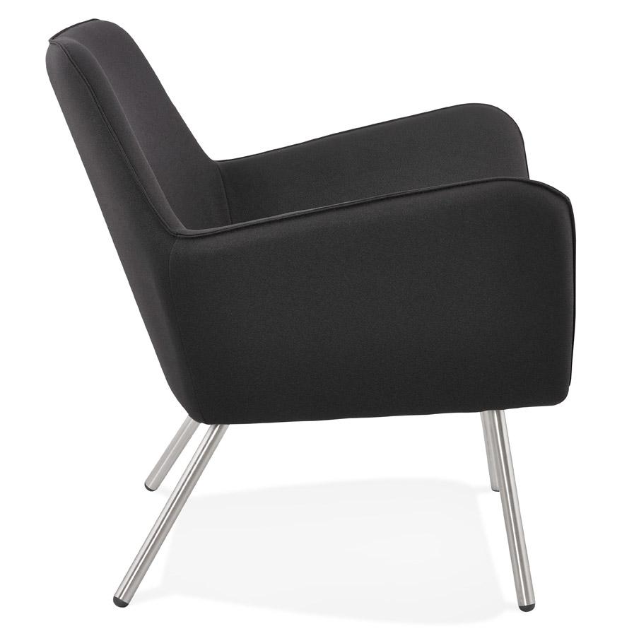 astana dark grey h2 03 - Fauteuil lounge design ´ASTANA´ en tissu gris foncé