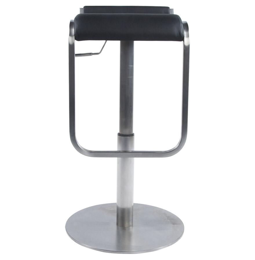 astro black newsite 03 - Tabouret de bar design ´ASTRO´ en matière synthétique noire et métal brossé
