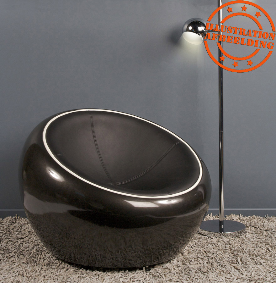 fauteuil boule retro atmo fauteuil lounge pivotant noir. Black Bedroom Furniture Sets. Home Design Ideas