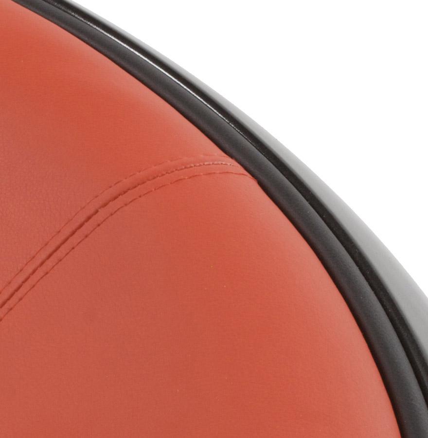 Fauteuil boule lounge ´ATMO´ pivotant noir et rouge