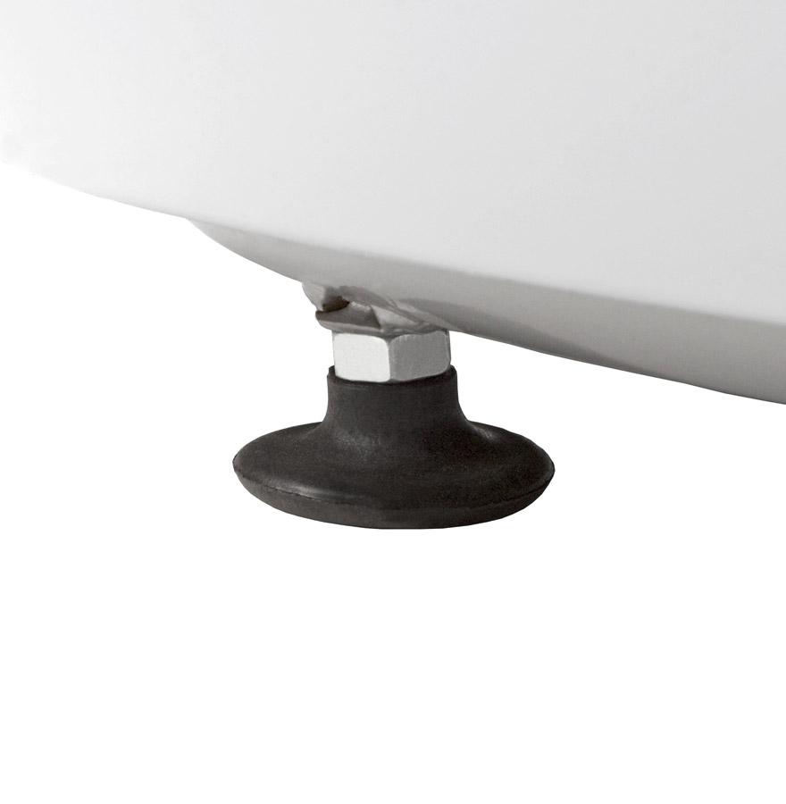Fauteuil boule lounge ´ATMO´ pivotant blanc et noir