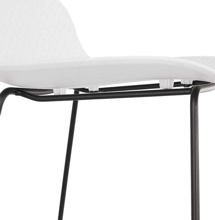 tabouret snack babylos mini blanc tabouret style industriel. Black Bedroom Furniture Sets. Home Design Ideas