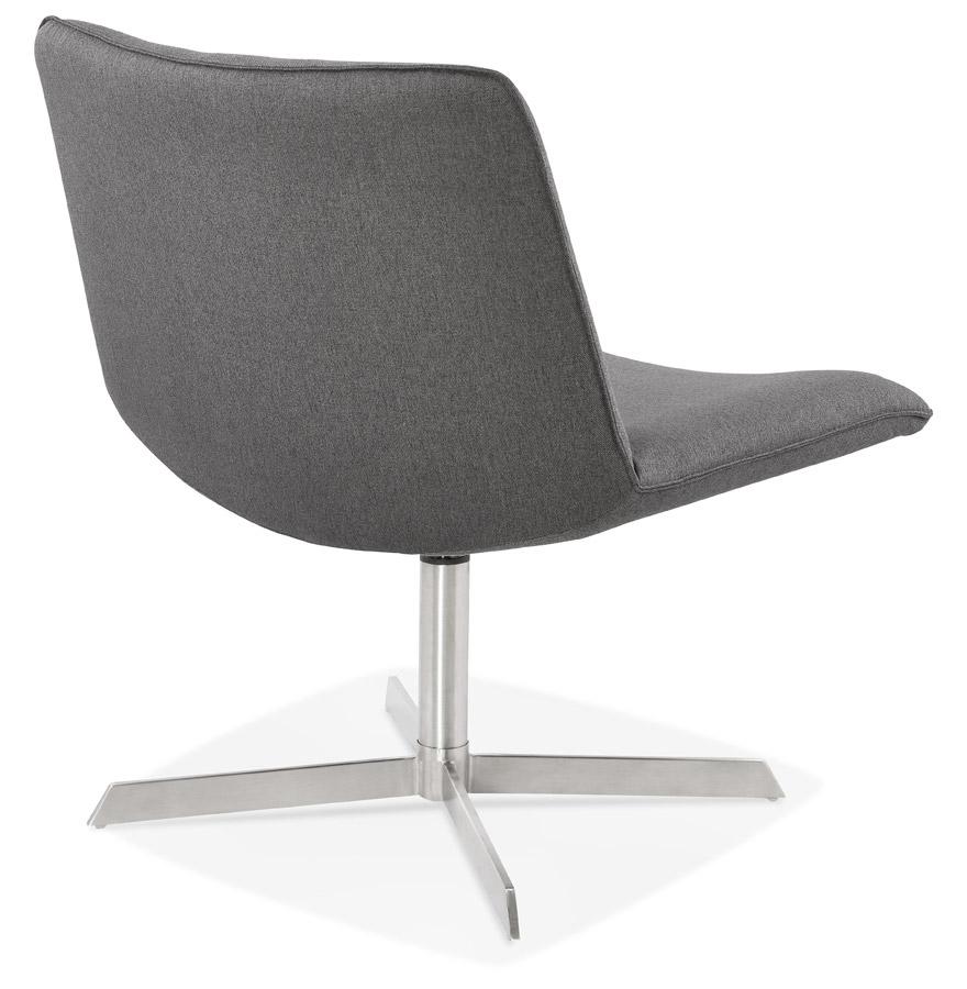 fauteuil design bakou en tissu gris fauteuil pivotant. Black Bedroom Furniture Sets. Home Design Ideas