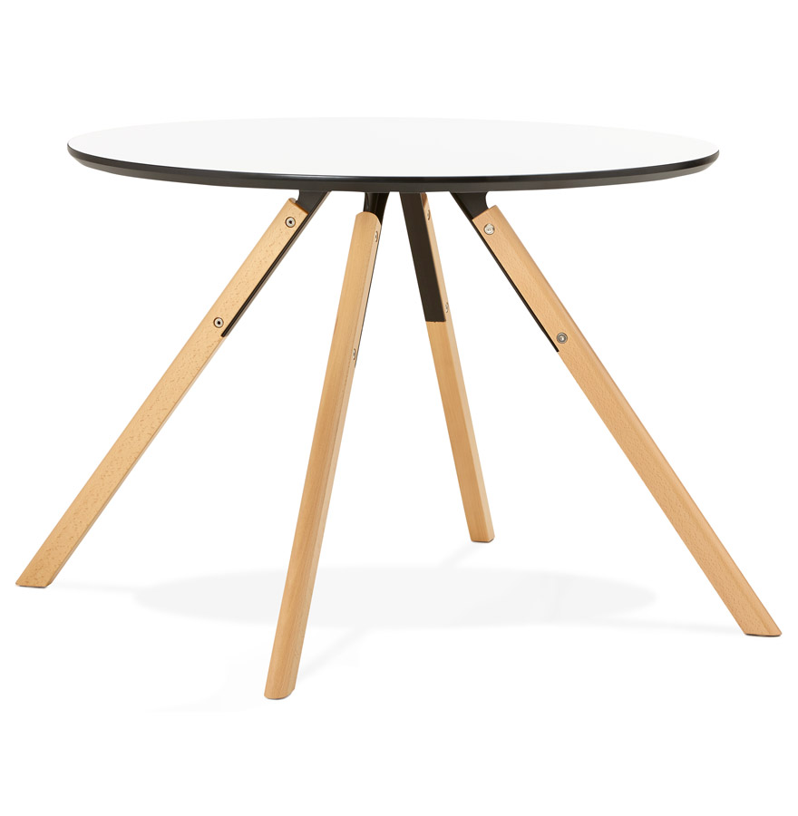 table de cuisine ronde balkan blanche style scandinave. Black Bedroom Furniture Sets. Home Design Ideas