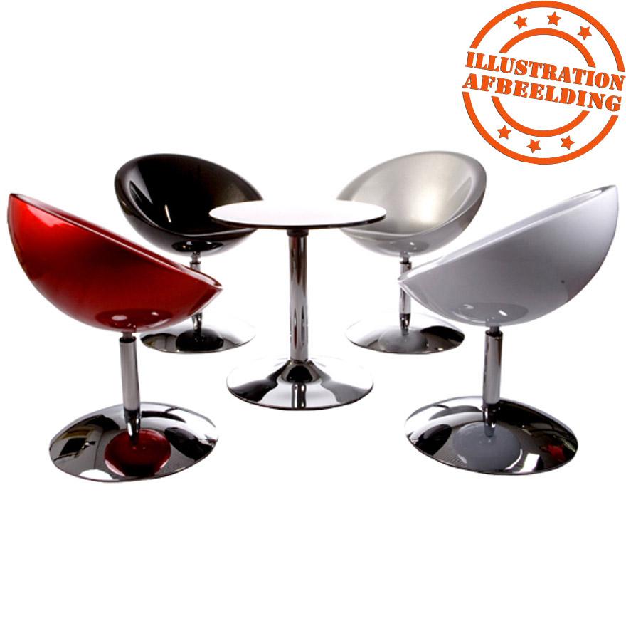 fauteuil design ball rotatif gris argent fauteuil moderne. Black Bedroom Furniture Sets. Home Design Ideas