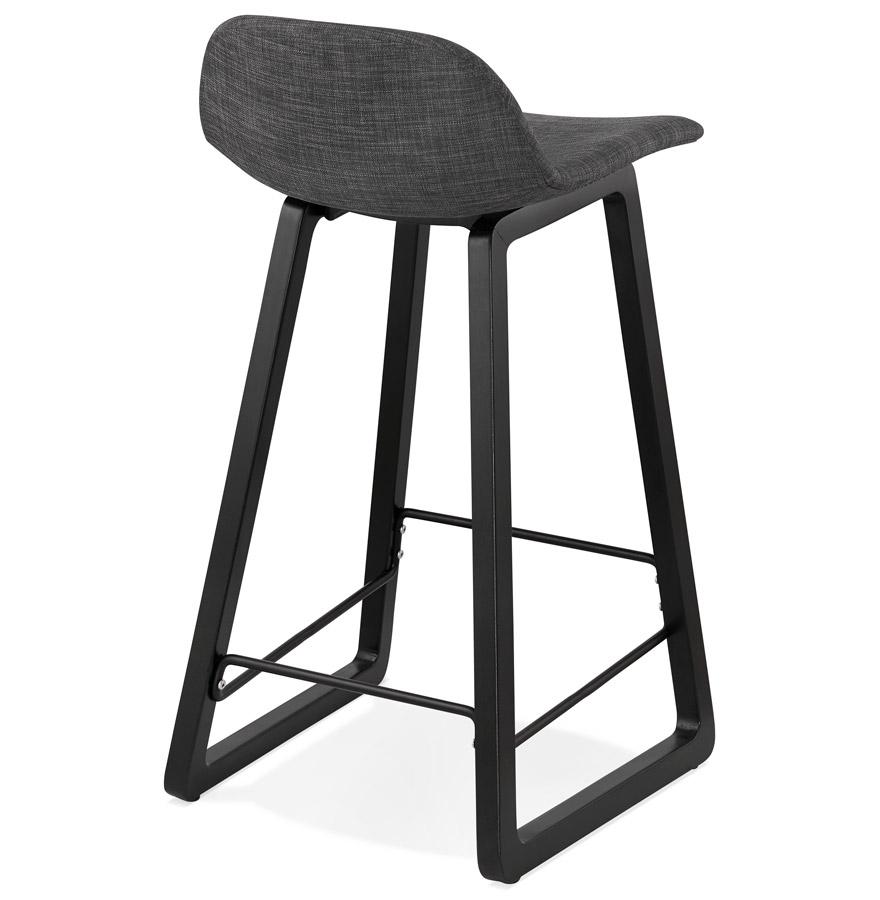 tabouret snack mi hauteur baltik mini noir tabouret design pour la cuisine. Black Bedroom Furniture Sets. Home Design Ideas