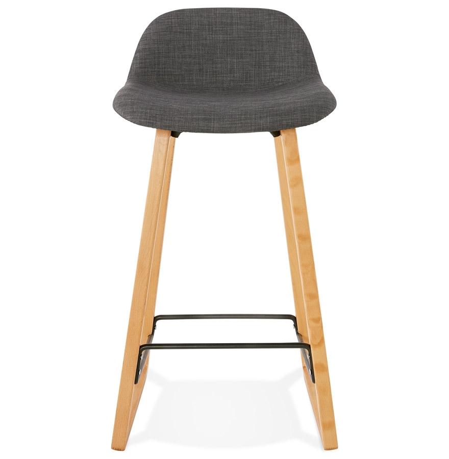 tabouret snack mi hauteur baltik mini en tissu gris tabouret scandinave. Black Bedroom Furniture Sets. Home Design Ideas