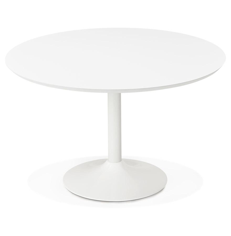 Table à diner/de bureau ronde ´BARABAR´ en bois blanc - Ø 120 cm