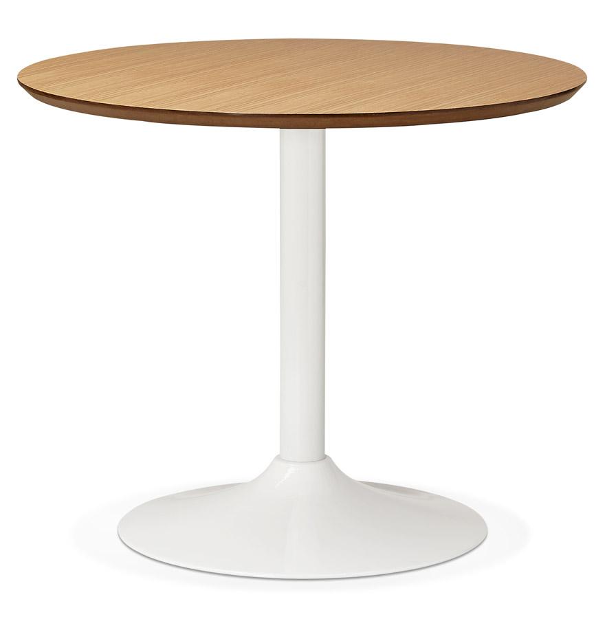 Petite table de bureau / à diner ronde ´BARABAR´ en bois finition naturelle - Ø 90 cm