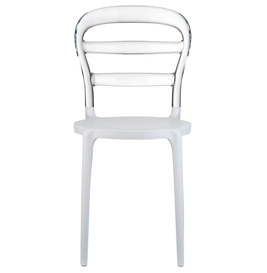 baro white clear newsite 02 - Chaise design ´BARO´ blanche et transparente en matière plastique