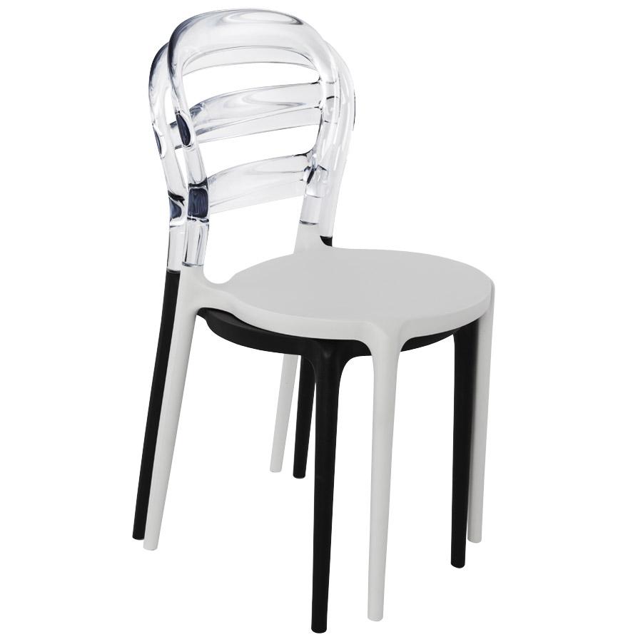 Witte en transparante design stoel baro uit kunststof for Witte kunstof eetkamerstoelen