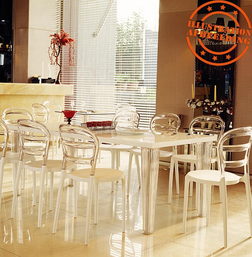 witte en transparante design stoel baro uit kunststof. Black Bedroom Furniture Sets. Home Design Ideas