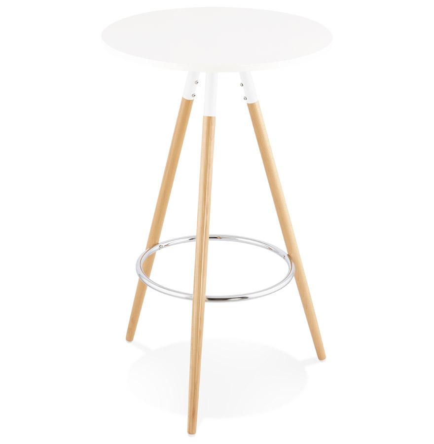 Table Haute Ronde table haute ronde bary en bois blanc - mange debout design
