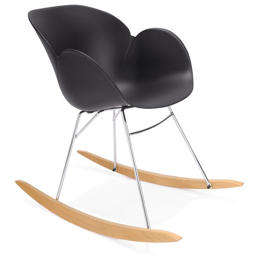 chaise bascule design baskul noire en mati re plastique. Black Bedroom Furniture Sets. Home Design Ideas