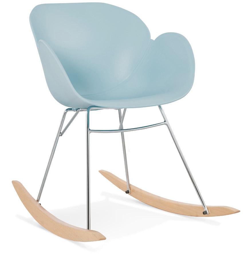 Chaise bascule design baskul bleue en mati re plastique - Chaise a bascule design ...