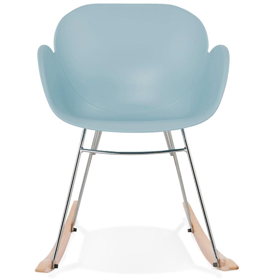 chaise bascule design baskul bleue en mati re plastique. Black Bedroom Furniture Sets. Home Design Ideas