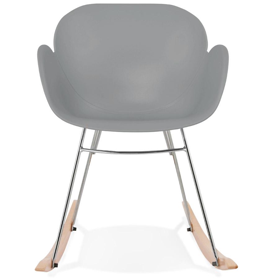 Chaise bascule design baskul grise en mati re plastique for Chaise a bascule design