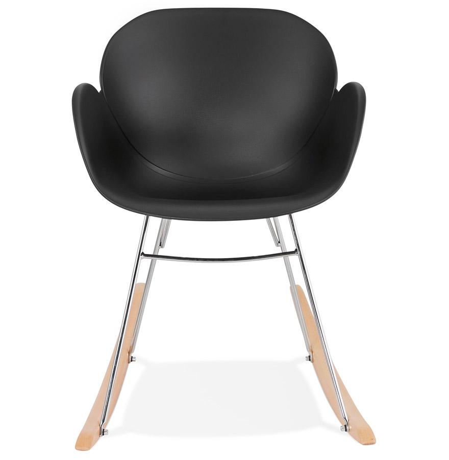 baskul new black h2 02 - Chaise à bascule design ´BASKUL´ noire en matière plastique