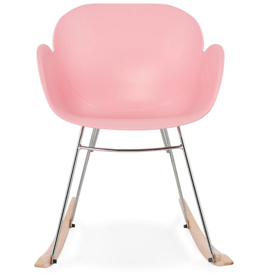 Chaise bascule design baskul rose en mati re plastique - Chaise a bascule design ...