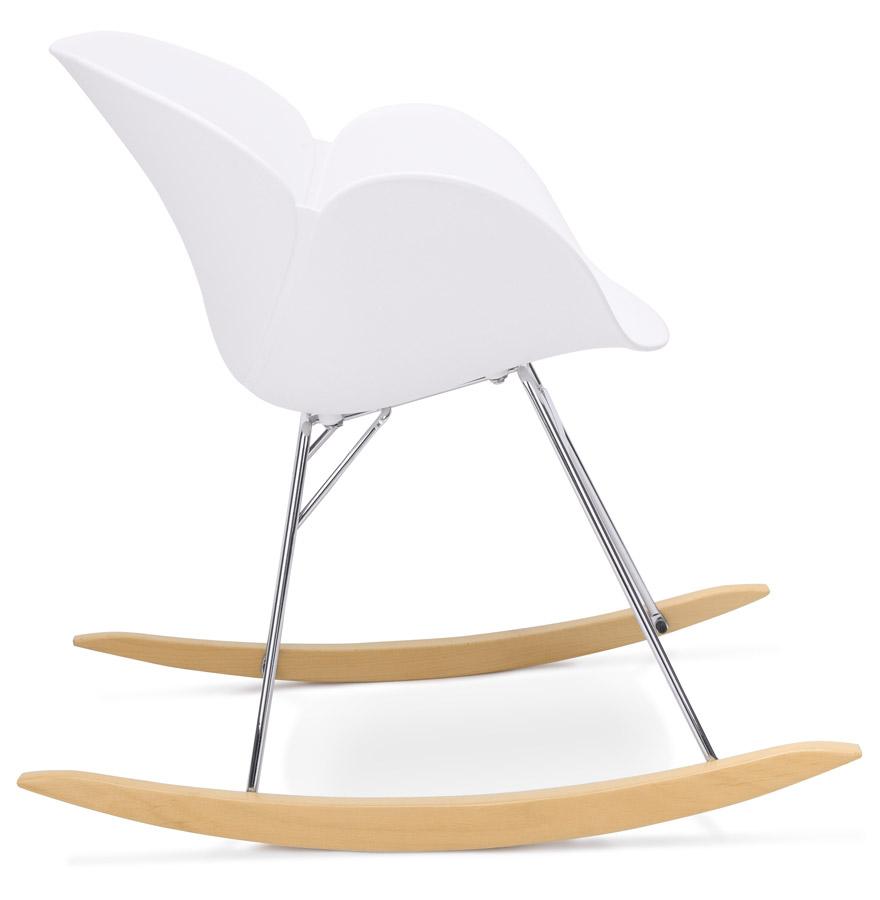 Chaise bascule design baskul blanche en mati re plastique - Chaise a bascule design ...