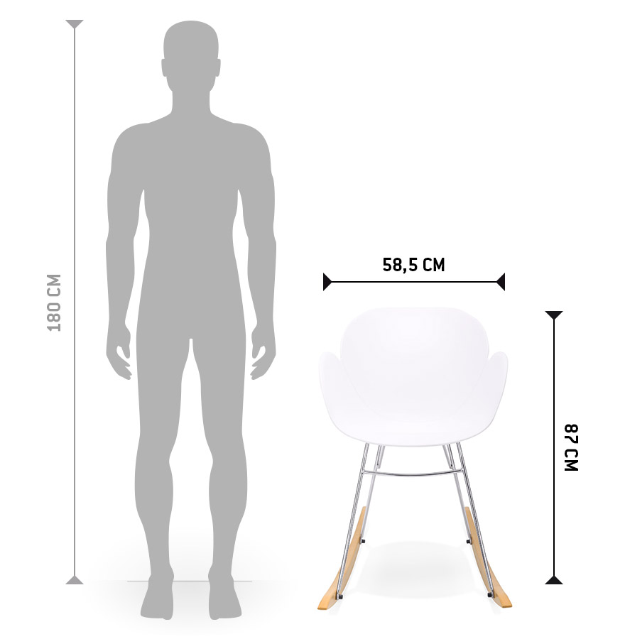 chaise bascule design baskul blanche en mati re plastique. Black Bedroom Furniture Sets. Home Design Ideas