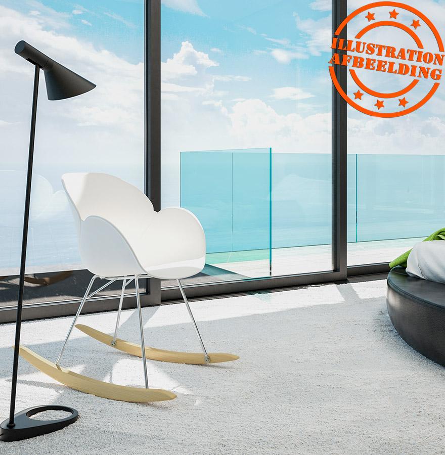 Design schommelstoel baskul grijs van kunststof - Meubilair van binnenkomst grijs ...