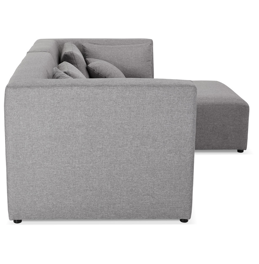 Canapé d´angle ´BELAGIO ANGLE´ gris clair - canapé modulable (angle à droite)