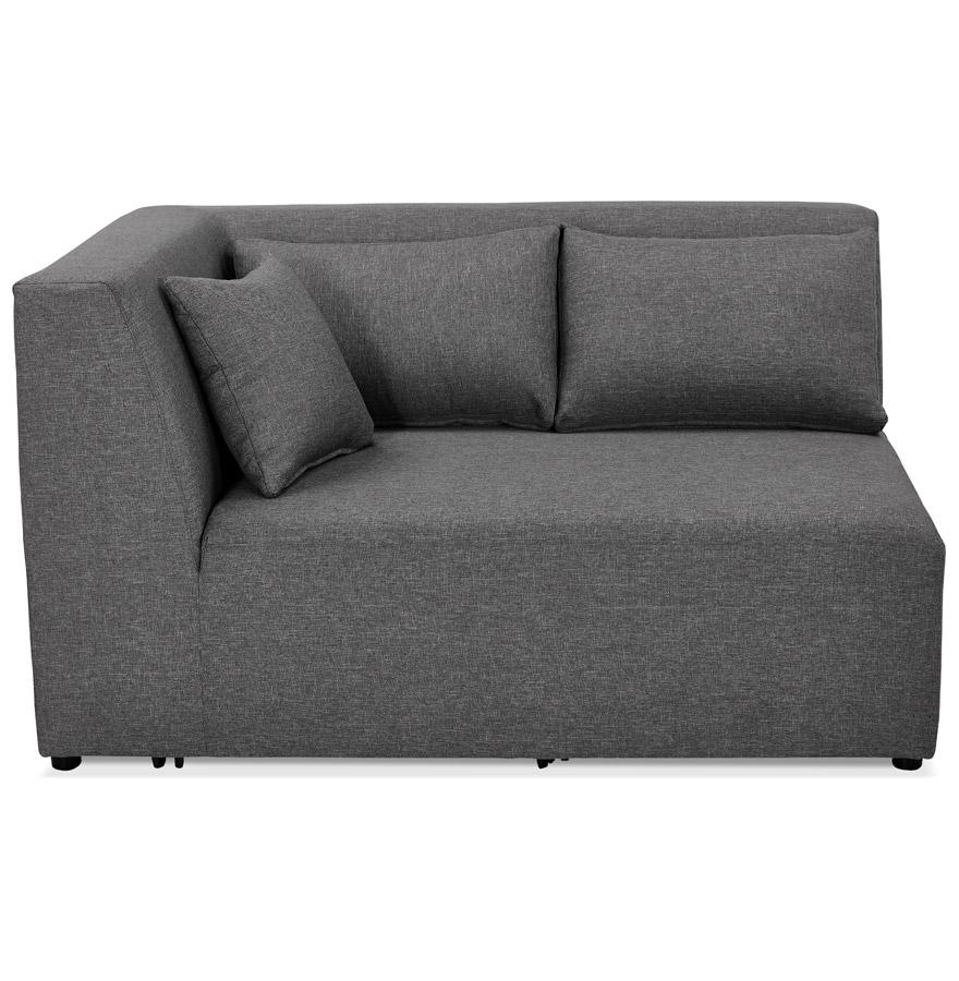 Élément de canapé modulable ´BELAGIO CORNER´ gris foncé - coin angle gauche