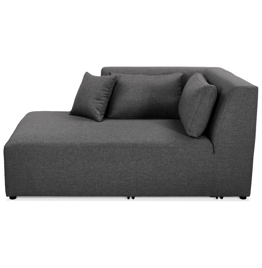 Élément de canapé modulable ´BELAGIO LONGCHAIR´ gris foncé - méridienne angle gauche