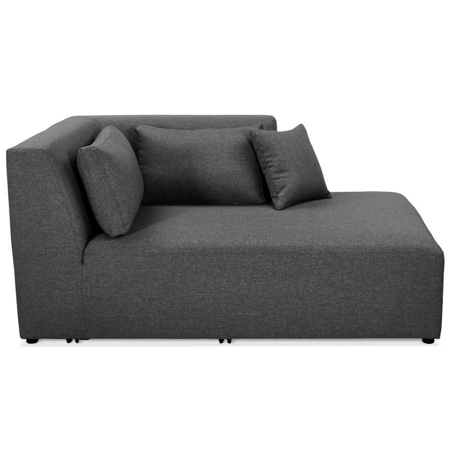 Élément de canapé modulable ´BELAGIO LONGCHAIR´ gris foncé - méridienne angle droit