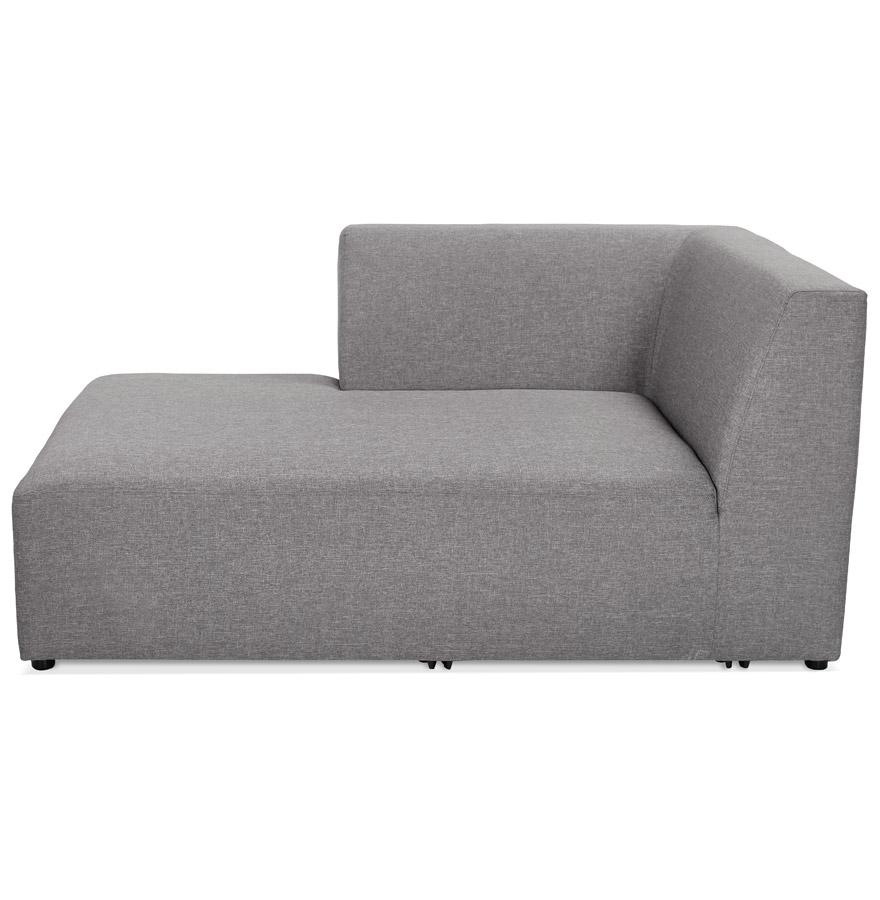 belagio longchair grey h2 02 left - Élément de canapé modulable ´BELAGIO LONGCHAIR´ gris clair - méridienne angle gauche